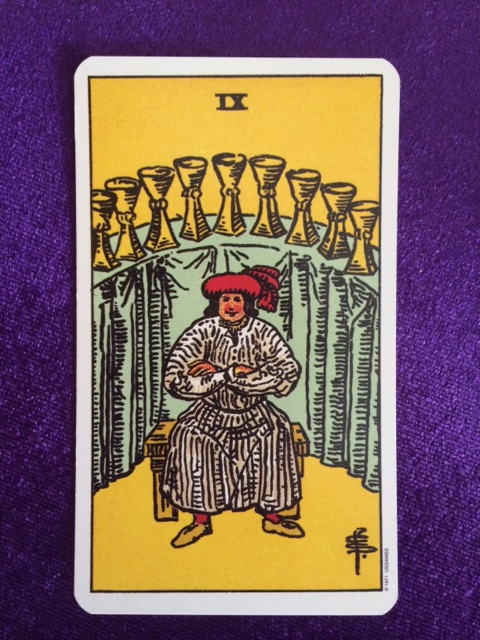 Nine of Cups: such a happy Tarot card! | Tarot by Email